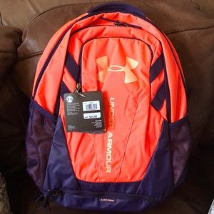 NWT Under Armour coral and purple backpack
